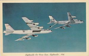 Boeing KC-135 refueling B-52 in-flight , Blytheville , AFB , 1966 n; Arkansas