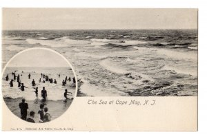PRE 1906 CAPE MAY NEW JERSEY NJ THE SEA AT CAPE MAY NATIONAL ART VIEWS CO #471