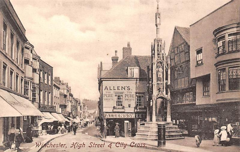 Winchester High Street & City Cross, Allen's Pure Sweets