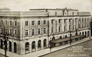 NY - Utica. New Central Station, 1915