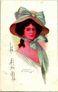 Vtg 1908 Carte Postale Archie Gunn Artiste Signé - Taylor & Platt Co. Ny