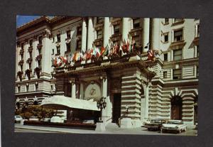 CA Entrance Fairmont Hotel San Francisco California Postcard Nob Hill