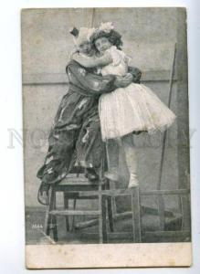 161097 CIRCUS Clown DANCER vintage Photo Italian PC
