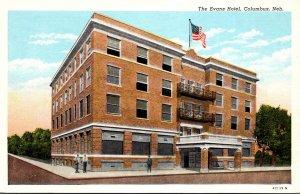 Nebraska Columbus The Evans Hotel Curteich