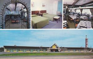 Motel Le Provence, Dining Room, Bar Area, THETFORD MINES, Quebec, Canada, 40-...