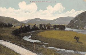 Hancock New York~Birdseye View Over Border into Pennsylvania~Dirt Road~1910 PC