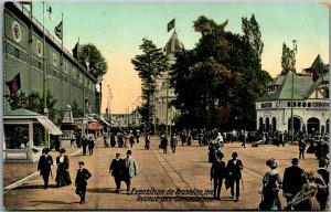 1910 EXPOSITION DE BRUXELLES Postcard Brussels Belgium Expo Grounds View Unused