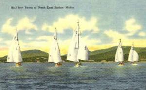 Sail Boat Races North East Harbor ME Unused