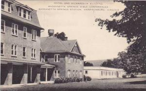 Virginia Harrisonburg Hotel And Richardson Building Massanetta Springs Bible ...
