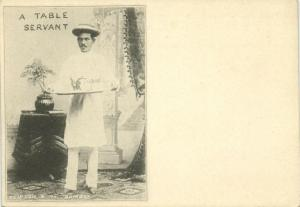 india, Native Table Servant (1899) Clifton & Co. Court Card