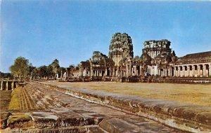 External Wall Angkor Wat Cambodia, Cambodge Unused