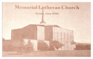 1984 Methodist Lutheran Church, Nevada, IA Postcard *5N9