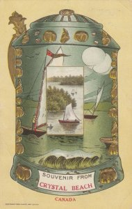 CRYSTAL BEACH , Ontario , Canada , 1911; Souvenier, Stein with sailboats on it