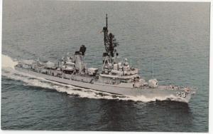 U.S.S. Richard E. Byrd (DDG-23), Guided Missile Destroyer, unused Postcard