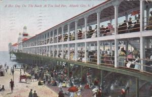 New Jersey Atlantic City Hot Day On The Beach At The Steel Pier 1907