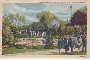 Illinois Lombard Lilacia Park Rock Gardens and Pool Curteich