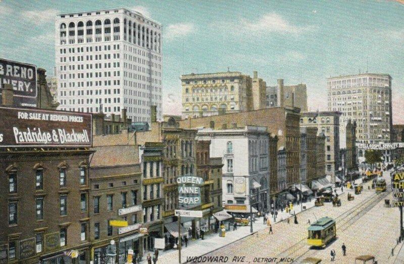 DETROIT , Michigan , 1909 ; Woodward Avenue