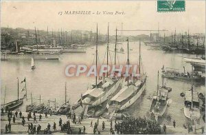 Old Postcard Marseille The Old Port Yacht