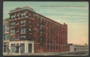 Chalmers Hotel Hutchinson Kansas Vintage Postcard