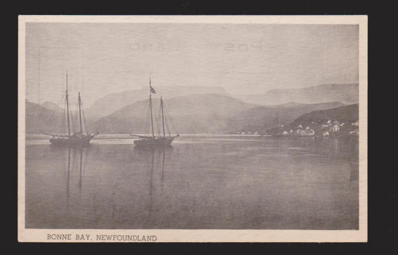 NEWFOUNDLAND - Schooners In Bonne Bay - 1950s - Unused