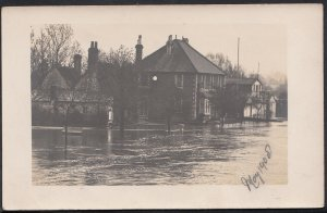 Berkshire or Surrey Postcard - Disaster - Flood Scene - Location Unknown  9252