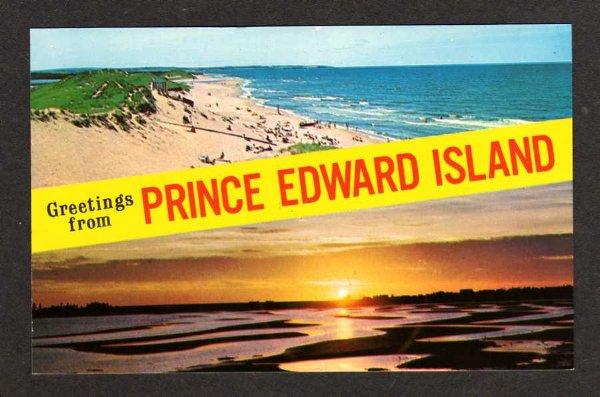 PEI Greetings From  PRINCE EDWARD ISLAND CANADA Sunset