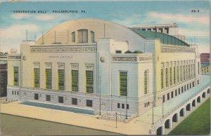 Philadelphia Convention Hall Vintage Postcard PA 1949 - US BOND STAMP