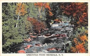 Greetings from Meridale, New York Postcard