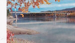 Liard River Bridge, Mile 496, The Only Remaining Suspension Bridge On The Ala...
