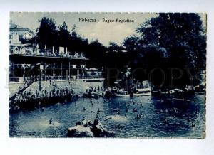 191367 CROATIA ABBAZIA Bagno Angiolina Vintage postcard