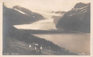 SVARITISEN NORWAY NORGE~GLACIER-PHOTO POSTCARD
