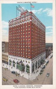 Tennessee Memphis Hotel Claridge Curteich