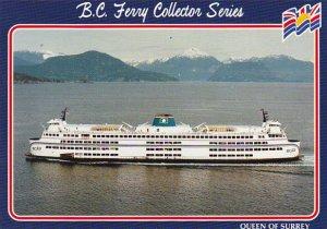 Canada Ferry Queen Of Surrey British Columbia Ferries