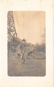 Wilber NE Man out Hunting? Real Photo Postcard