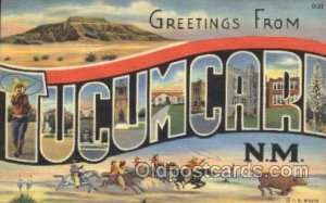 Tucumcari, N.M., USA Large Letter Town Unused