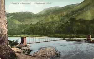 peru, CHANCHAMAYO, Puente de la Peruvian C. (1910s) Polack-Schneider Postcard