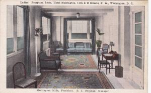 WASHINGTON D.C., 1910s-1920's; Ladies' Reception Room, Hotel Harrington,