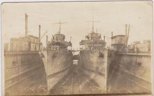 RP; INVERGORDON , Scotland ,PU-1906 ; Ships in drydock