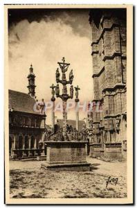 Postcard Old Saint Thegonnec Calvary and & # 39ossuaire