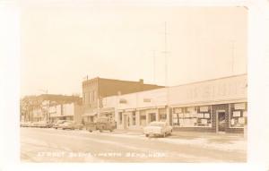 North Bend NE McGinn's Grocery (Now VFW) Bar (Now RJ's) Pickup Truck RPPC 1950s