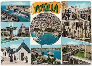 PUGLIA, multi view, unused Postcard
