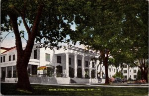 Biloxi MS White House Hotel Postcard unused 1930s/40s (6460)