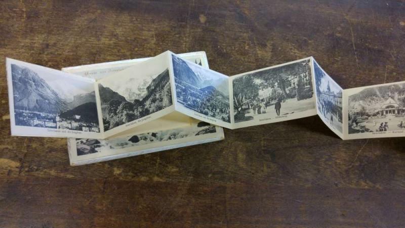 Interlaken Switzerland Scenic Views Fold out Antique Postcard J45884