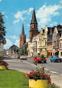 GG11404 Euskirchen Rolner Strasse Auto Vintage Cars Cafe Church Kirche