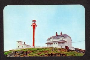 NS Lighthouse Light Cape Forchu Yarmouth NOVA SCOTIA Postcard Carte Postale