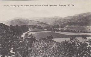 West Virginia Romney Looking Up The river From Indian Mound Cemetery Albertype