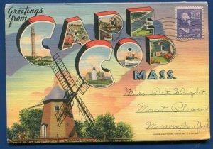 Cape Cod Massachusetts ma lighthouse long point postcard folder