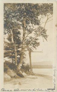 1907 East Hebron New Hampshire Lake View Scene RPPC real photo postcard 5388