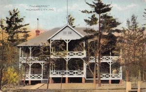 Michigan City Indiana~The Hermitage Hotel~2 Storied Porches~1910 Postcard