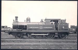 LANCASHIRE & YORKSHIRE Railroad Locomotive #1042 RPPC unused